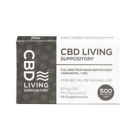 CBD Living Suppository front of package